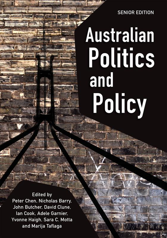 "Cover: ""Australian Politics and Policy: Senior Edition"" edited by Peter Chen et al."