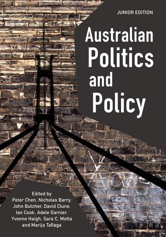 "Cover: ""Australian Politics and Policy: Junior Edition"" edited by Peter Chen et al."