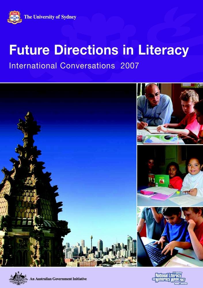 "Cover: ""Future Directions in Literacy"" edited by Alyson Simpson"