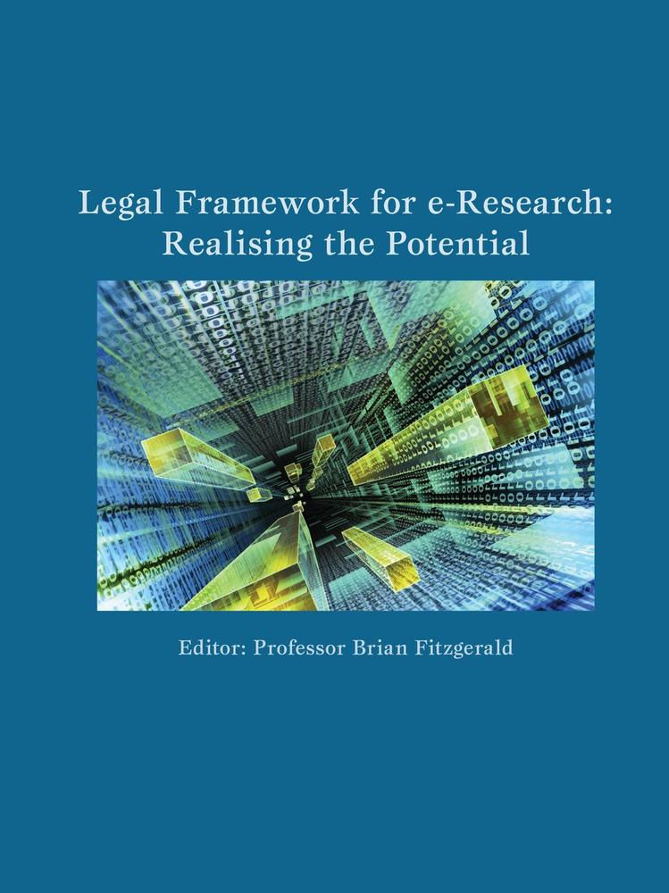 "Cover: ""Legal Framework for e-Research"" edited by Brian Fitzgerald"