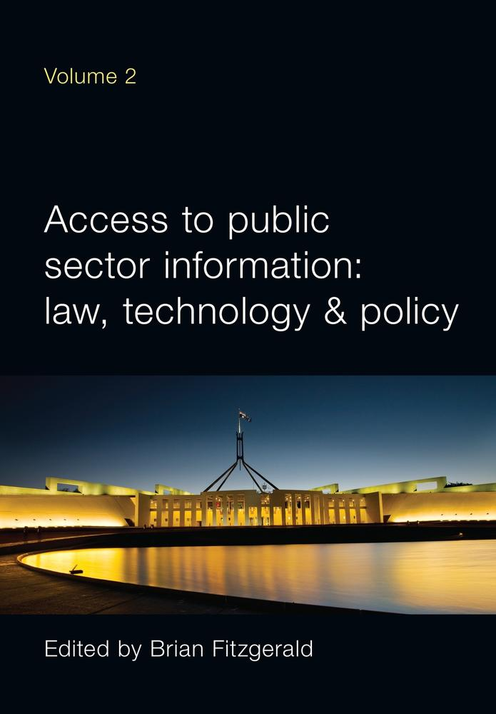 "Cover: ""Access to Public Sector Information Volume 2"" edited by Brian Fitzgerald"